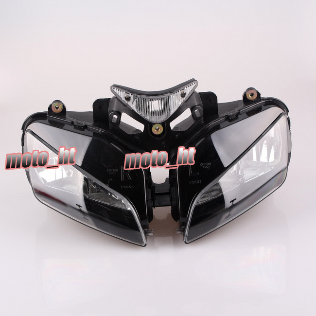 Headlight For Honda CBR 1000RR 2004 2005 2006 2007, Front Motorcycle Lighting Headlamp Replacements BLACK Color