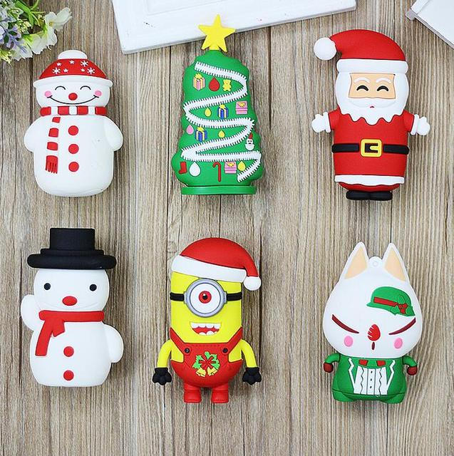 christmas santa claus 8800mah power bank christmas tree snow man various design power bank mobile phone