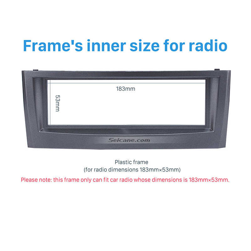 Seicane אישור 1Din רכב רדיו Fascia עבור 2005 2006 2007 פיאט פונטו LINEA סטריאו להתקין ערכת דאש DVD מסגרת CD לקצץ