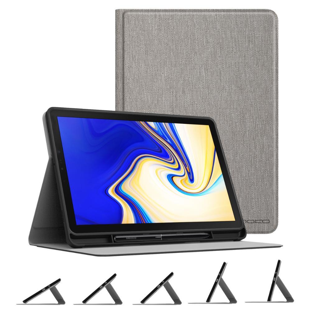 Чехол для Samsung Galaxy Tab S4 10,5 с держателем для ручки S, мягкая термополиуретановая легкая подставка под разными углами для Galaxy Tab S4 10,5 2018