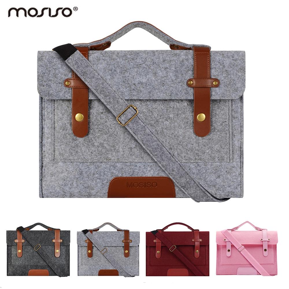 Mosiso Laptop 11 13.3 15.6 inch Shoulder Felt Bags for Macbook Air 13 Pro Retina 2016 2017 2018 DELL/HP/Asus Handbag Accessories