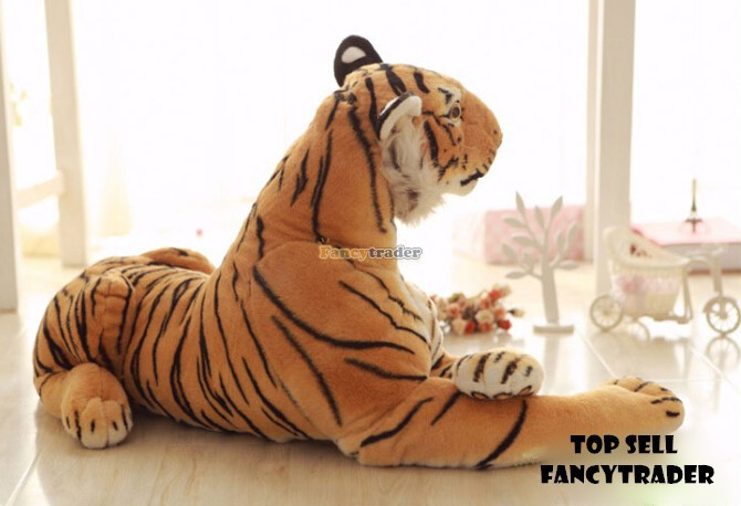 Fancytrader Emulational Realistic Stuffed Giant Tiger Plush 130cm