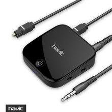 HAVIT приемник передатчик 2-в-1 Мини Bluetooth 4.1 адаптер 3.5 мм Aux Цифровой оптический Беспроводной аудио Bluetooth ключ HV-BT021