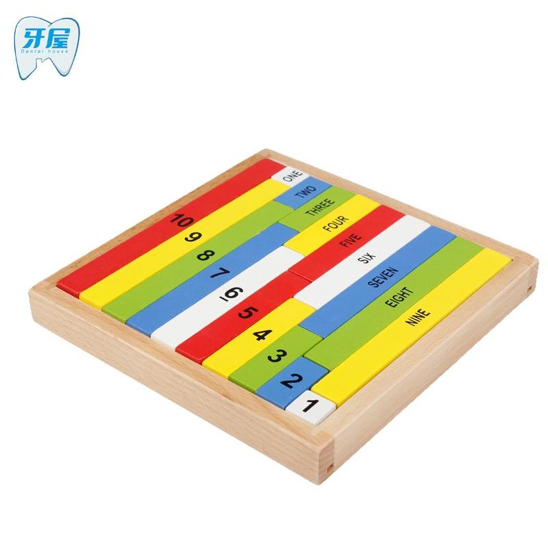 Зубные дом Монтессори образование деревянный Toys10 цифра когнитивных математика игрушка преподавание логарифм версия малыша раннего обучен... ...