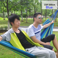 Hot Sale High Quality Portable Outdoor Hammock Outdoor Sports Travel Camping Swing Canvas Stripe Hang Bed