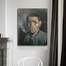 Head of a man by Vincent Von Gogh Poster Print Canvas Painting Calligraphy Home Decor Wall Art Pictures for Living Room Bedroom