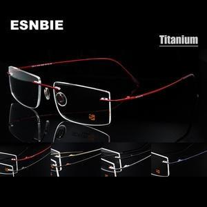 2eb4ed889e02 ESNBIE Computer Titanium Glasses Frame men Eyeglass Frames