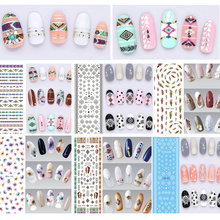 3Pcs Water Transfer Nails Art Sticker Colorful Flowers Water Decals 3D Decoration for Nail Design Polish UV Gel Nail Stickers недорого
