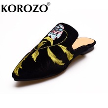 Women Embroider Fur Slides Chiara Ferragni Soft Furry Slipper Flat Heel Platform Flip Flops Slipony Slip On Sandals Warm Shoes