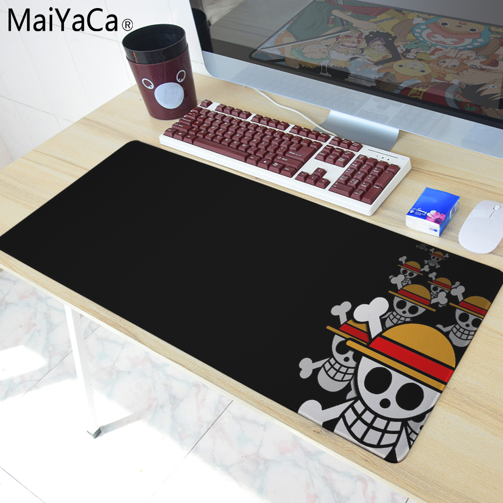 MaiYaCa 700*300mm one piece mouse pad gaming mouse pad large cartoon Anime rubber mouse pad Keyboard Mat Table Mat rubber mouse pad mat black