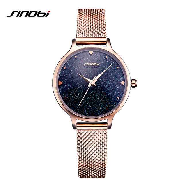 SK Luxury Brand Fashion quartz womem watches Starry Sky Rose Gold ladies dress Milan strap watch female Relogio Feminino