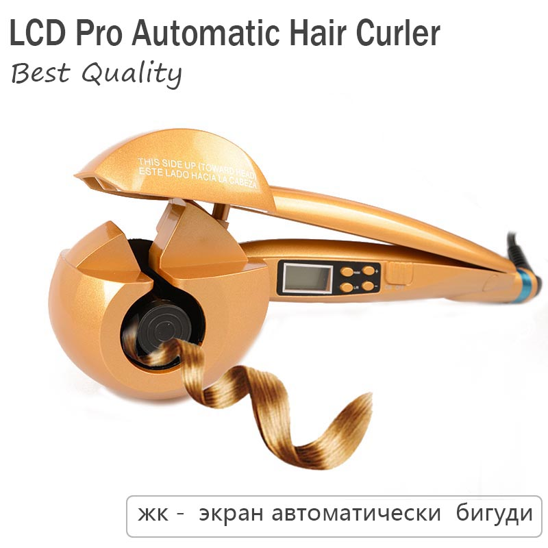 LCD Screen Automatic Hair Curler Heating Hair Care Styling Tools Ceramic Wave Hair Curl Magic Curling Iron Hair Styler Poocast