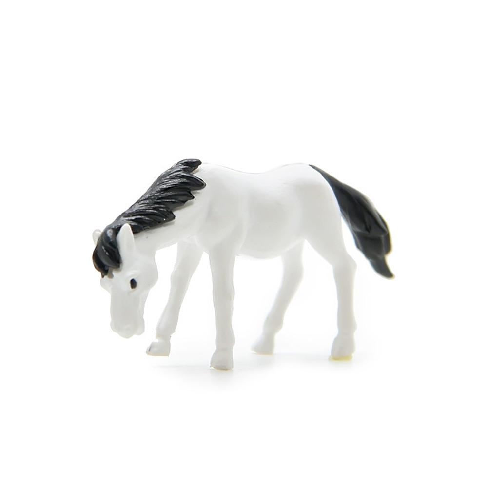 Mini Horse Figurines Fancy Fairy Garden Cute Miniatures Mini Micro Landscape Resin Crafts Ornament Moss Garden Home Decor