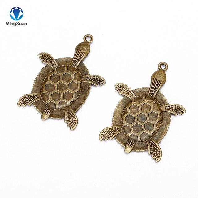 Mingxuan 10 шт черепаховая подвеска с бронзовой филигранью под