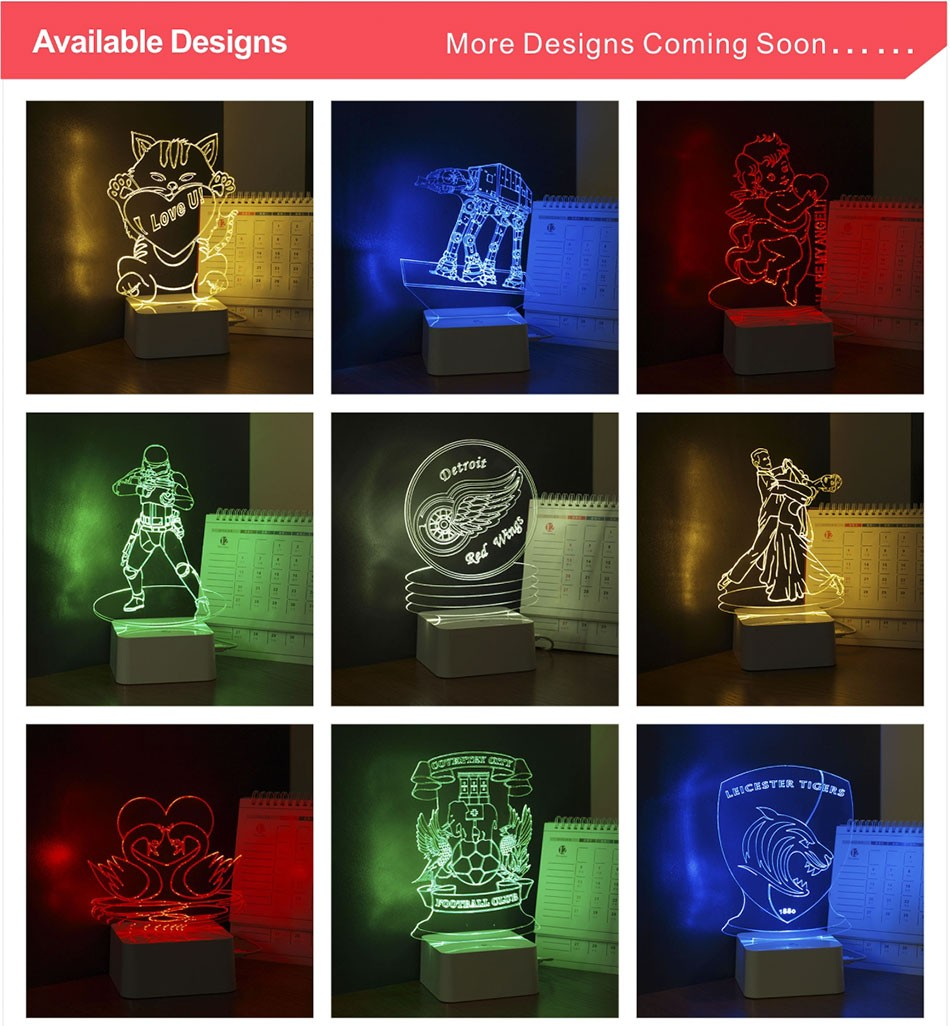 CNHIDEE USB Novelty 3D Visual Night Lights Star Wars Robort BB-8 Shaped Touch Table Desk Lamp Bubling Light as Creative Gifts (6)