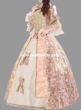 Cheap Royal Court Floral Marie Antoinette Period Dress