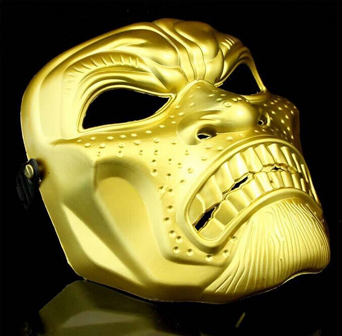 Spartan Whole Face Mask CS Skull Mask Halloween Masks Tyrant Gold Field Party Toys Adult Party Movie Theme Props Supply