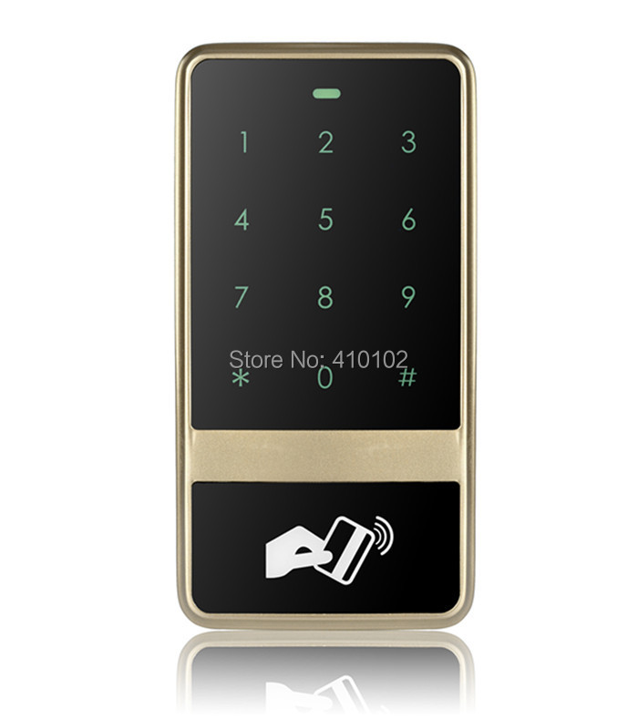 8000 Users Touch Keypad 125KHz RFID ID Card Reader Metal Case  Access Controller  C60 Champagne Golden good quality metal case face waterproof rfid card access controller with keypad 2000 users door access control reader