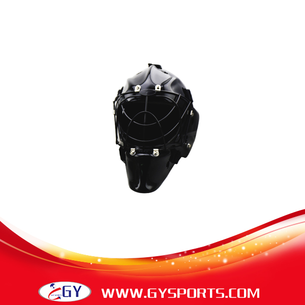 black  floorball helmet streetball head guard safety helmet covers with steel cage mask mens free shipping