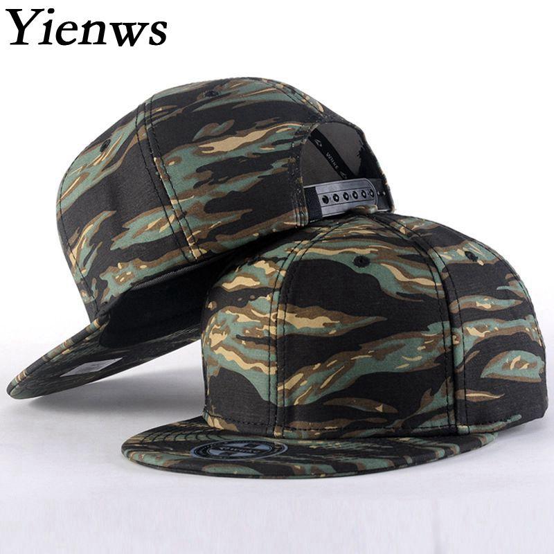 Prix pour Yienws camouflage hip hop snapback casquette de baseball pour hommes d'été plat Cap Jeunesse Pleine Cap Mâle Droite Bord Soleil Chapeau YIC439
