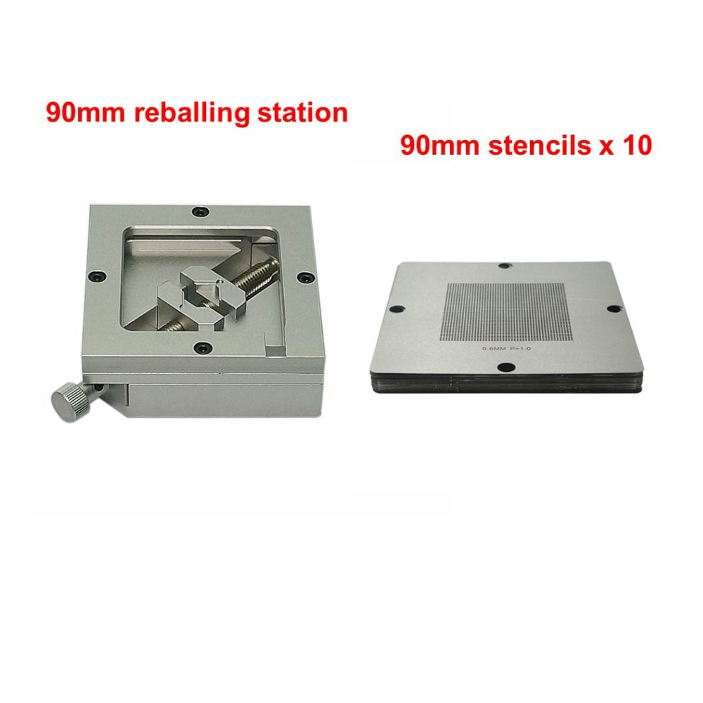 10pcs Universal 90mm Bga Stencils  BGA Reballing Station  Jig Fixture Holder  Repair Rework Tools