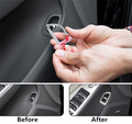 Stainless steel Car rear trunk switch button decoration cover trim interior molding for Audi A4 car styling 2009 TO 2016 styling