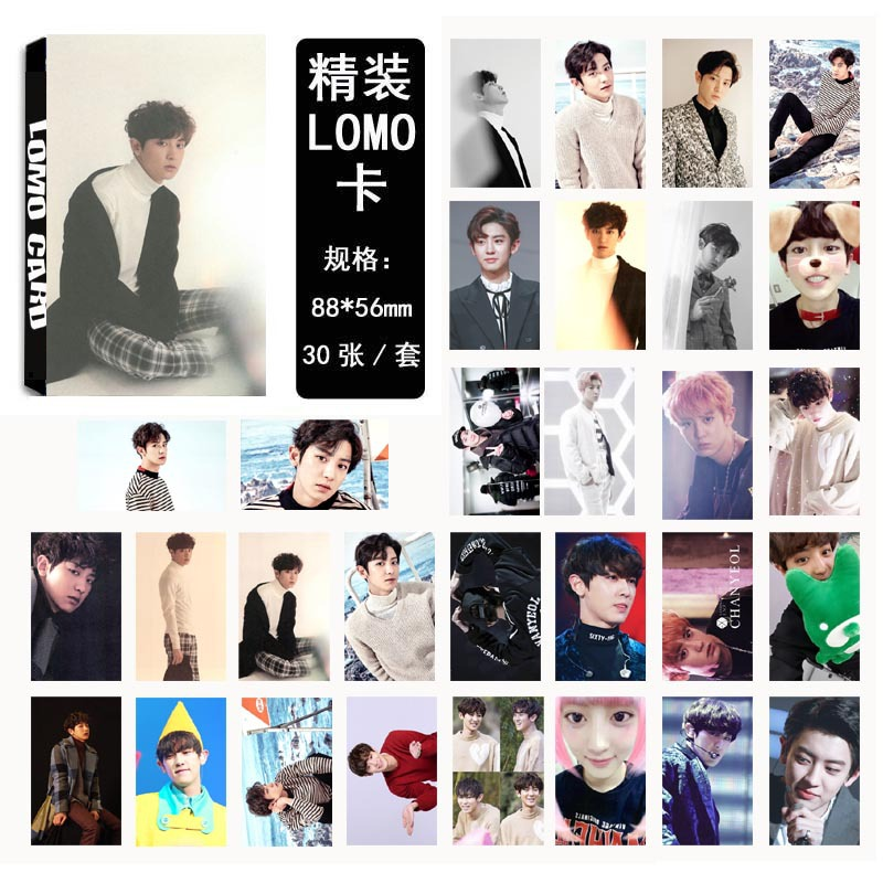 [MYKPOP] EXO CHANYEOL FOR LIFE LOMO Cards 04 Paper Photo Card HD Photocard SA18030210