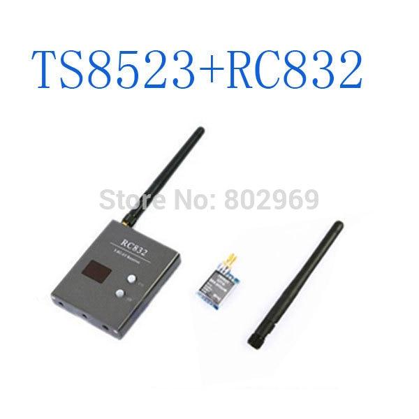 FPV 5.8Ghz 32CH 200mW Mini Wireless AV Transmitter+Recevier Module TS5823(TX)+RC832(RX) eachine ts5823 5 8g 200mw 32ch av transmitter module