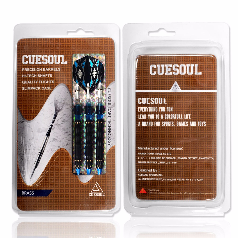 Купить с кэшбэком Gift !!! CUESOUL Professional Electronic Soft Tip Darts With Different Style Dart Flights Blue PC Dart Shaft STBS074