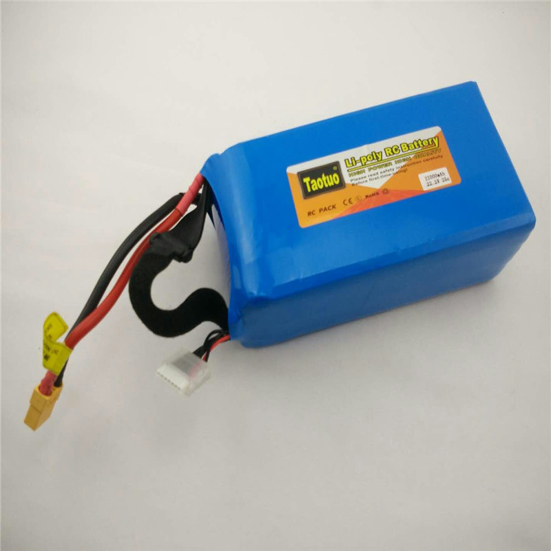 10pcs Power Lithium Polymer Lipo Battery 22.2v 22000mah 25C 6S XT60 Plug For RC Quadcopter FPV Multicopter Model Parts Bateria model aircraft battery 25c 6s 22 2v 2200mah air plane battery air plane model battery aeromodelling lithium polymer battery