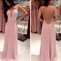 2016 Nueva llegada de la manera de nuevo v-cuello profundo vestido largo backless atractivo cultiva su moralidad vestido de verano las mujeres vestidos al por mayor