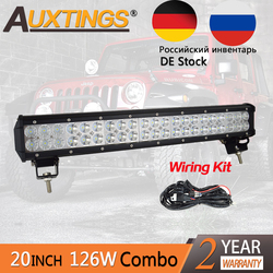 Auxtings LED Auto 20inch 126w Dual Rows IP67 Waterproof CE RoHS Combo Beam Straight Car LED Light Bar Offroad 4x4 Worklight