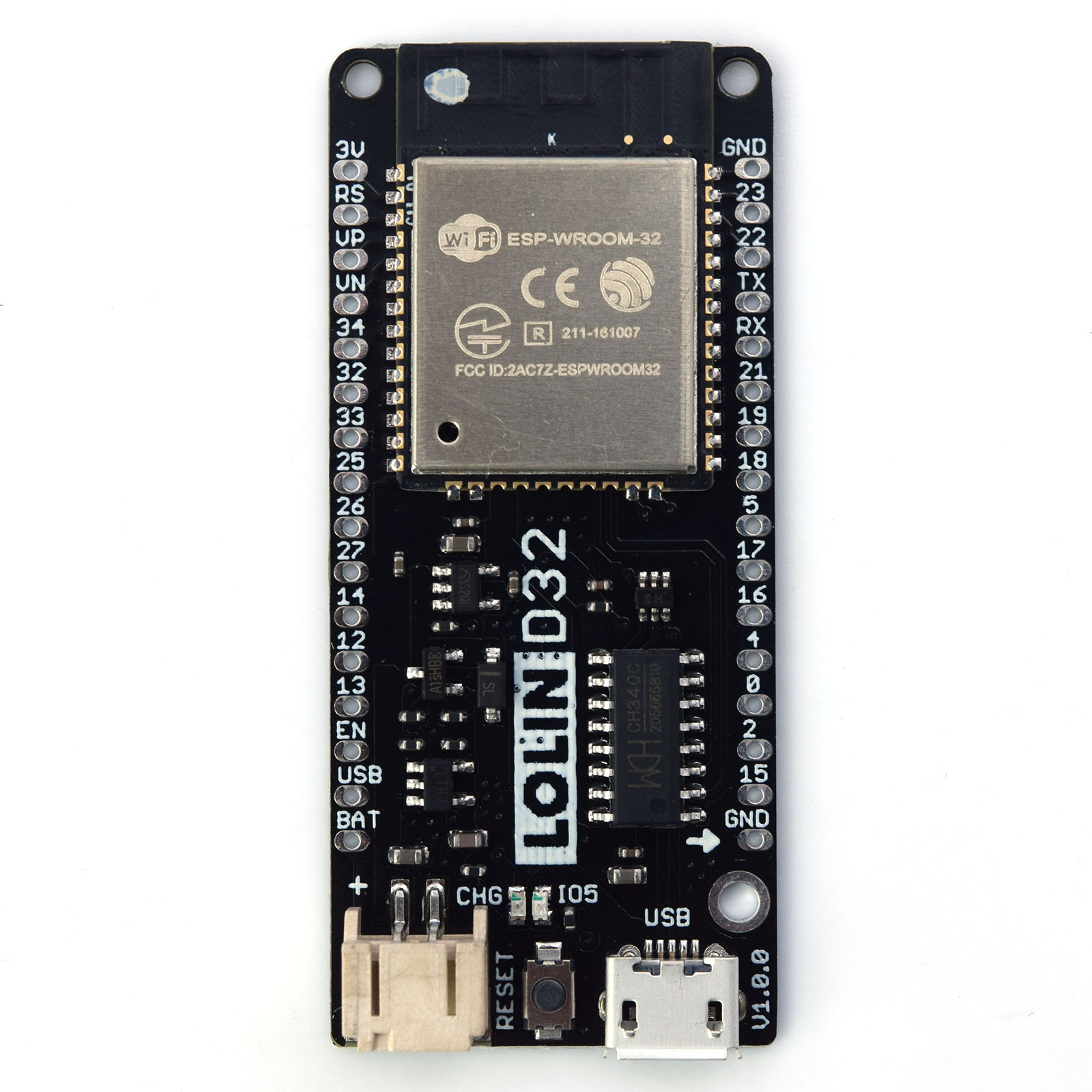 WEMOS LOLIN32 V1.0.0 - wifi & bluetooth board based ESP-32 4MB FLASH writing