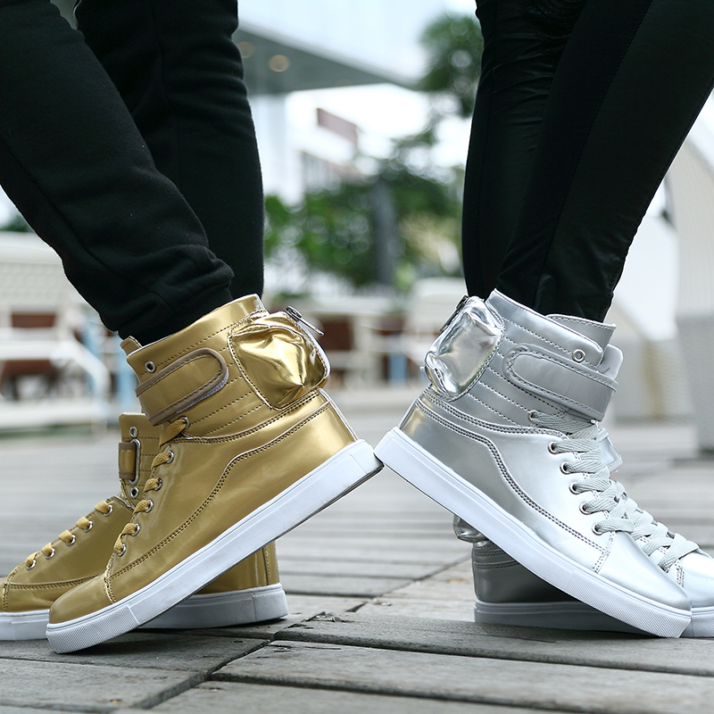 MIUBU Men Shoes Golden High Top Men'S