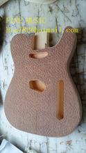 бесплатная доставка новый один волна электрическая гитара тела с водой волны пылали кленовый топ-без краски режут на ЧПУ Ф-2163