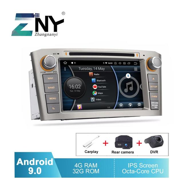 """7"""" IPS Android 9.0 Auto GPS Radio For Avensis T25 2003 2008 Car DVD Audio Video FM WiFi Free DVR Carplay Rear Camera Maps Tools"""