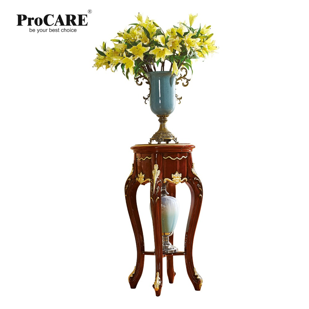 Antique solid wood sofa side table for telephone or flower for luxury European style furniture set from Brand ProCARE