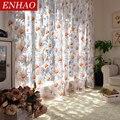 ENHAO современные солнечные Цветочные тюлевые занавески для гостиной  спальни  кухни  роскошные прозрачные шторы для окна  тюлевые шторы  зана...