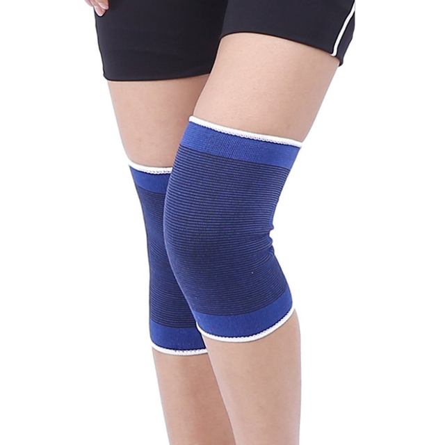 d4c013484c 1Pair Knee Brace Support Sleeves Elastic Muscle Support Compression Sleeve  Sport Arthritis Pain Relief Wrist Sleeve