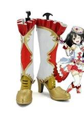 Aşk canlı Birthstone Yazawa Nico Cosplay ayakkabı botları cadılar bayramı partisi botları yetişkin yüksek topuklu kadın ayakkabıları aksesuarları