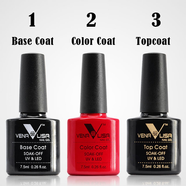 2018 New Nail Art Design Manicure Venalisa 60Color 7.5Ml Soak Off Enamel Gel Polish LED UV Gel Nail Polish Lacquer