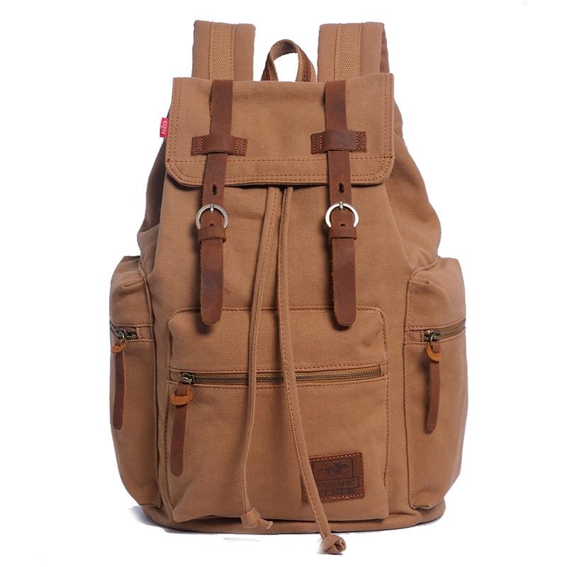 Vintage Canvas Men s Backpack bag Fashion Men Travel backpack bag Sport Male backpack For 15