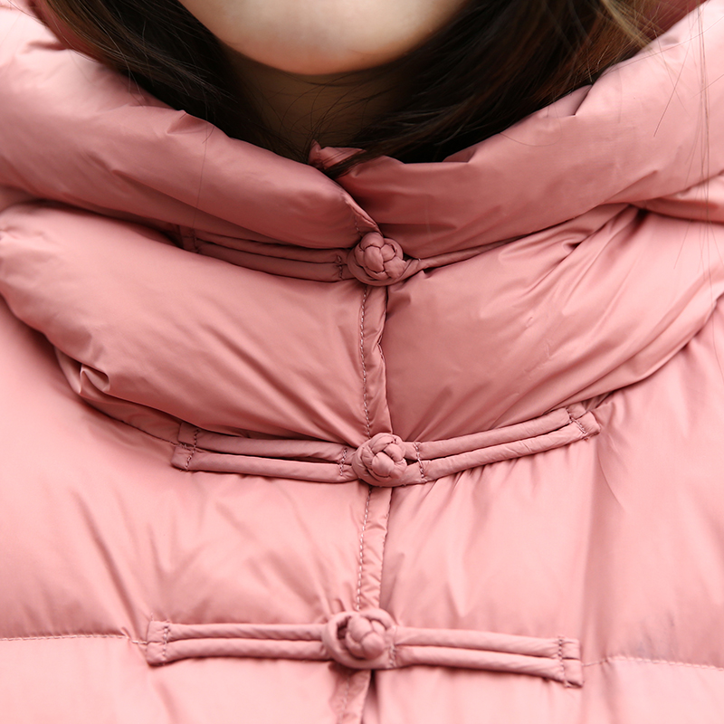 pink Canard D'hiver Blanc La big Épais Capuchon Genou rose Duvet Parka Taille Mode Veste De Plus Lxt451 Manteaux Femme Red Black Et Femelle Red Long Survêtement Manteau À Femmes v4q5wx7S5