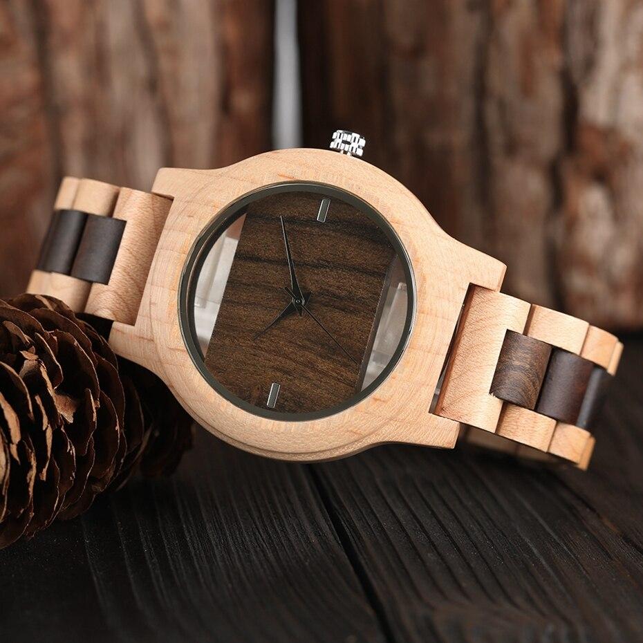 Top Luxury Full Bamboo Wood Quartz Watch Mens Hollow Analog Handmade Bracelet Sports Wristwatch Male Simple reloj de hombre 2017 2018 Gifts (33)