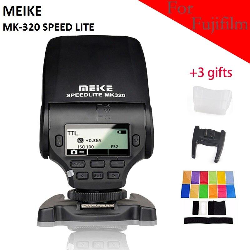 Prix pour MeiKe MK-320 mk320f TTL Flash speedlite Pour Fujifilm hotshoe m3/4 X-T10 X-PRO1 X100T X100S X-A1 X-E2 X-M1 X-A2 X30 X-E1