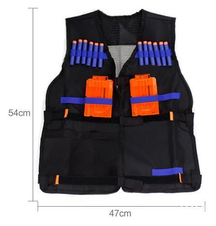Free Shipping Nerf Tactical Vest Jacket Waistcoat Magazine Ammo Holder for N-Strike Elite Pistol  Bullets Toy Guns Clip Darts
