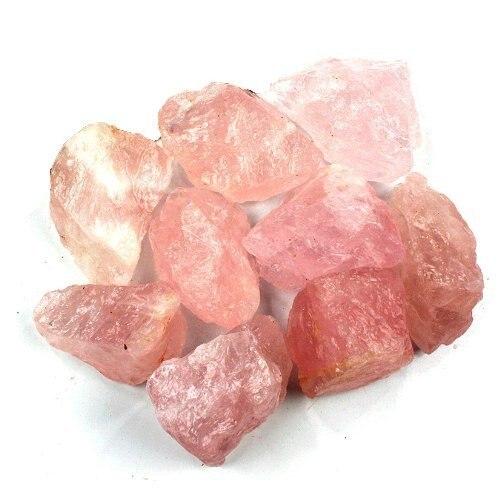 1lb (450g) Bulk Ruwe Roze Rose Quart z Kristallen Ruwe Natuursteen voor Cabbing, Snijden, lapidaire, Tumbling Reiki Kristallen