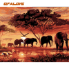 QFALOVE Animal Landscape DIY Digital Painting By Numbers Cartoon Elephants Art Wall Painting Artwork Home Decoration