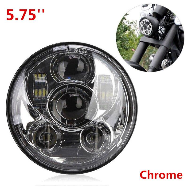 Hot Sale Accesorios Motos 5.75 Round LED Headlamp Motorcycle Projector Headlight for Harley Davidson Sreet Bob Iron 883 L011