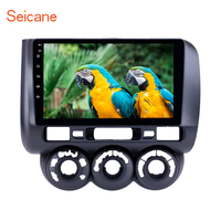 Seicane Android8.1 9 GPS Radio for 2002 2008 Honda Jazz Manual AC with Bluetooth support Carplay SWC DAB+ Car Multimedia player